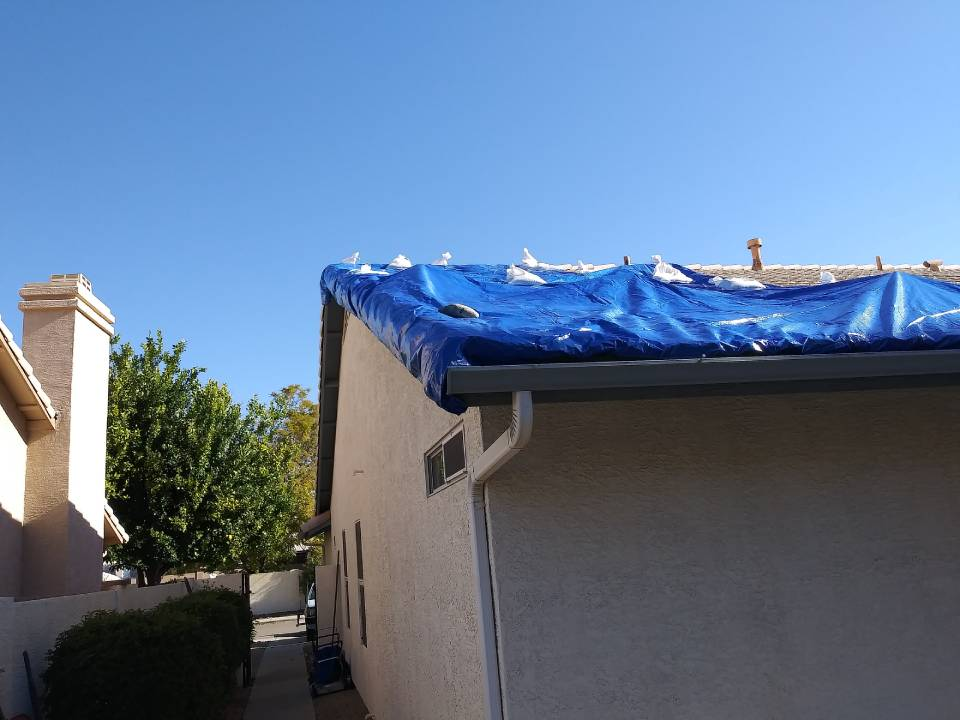 a house damaged by monsoon